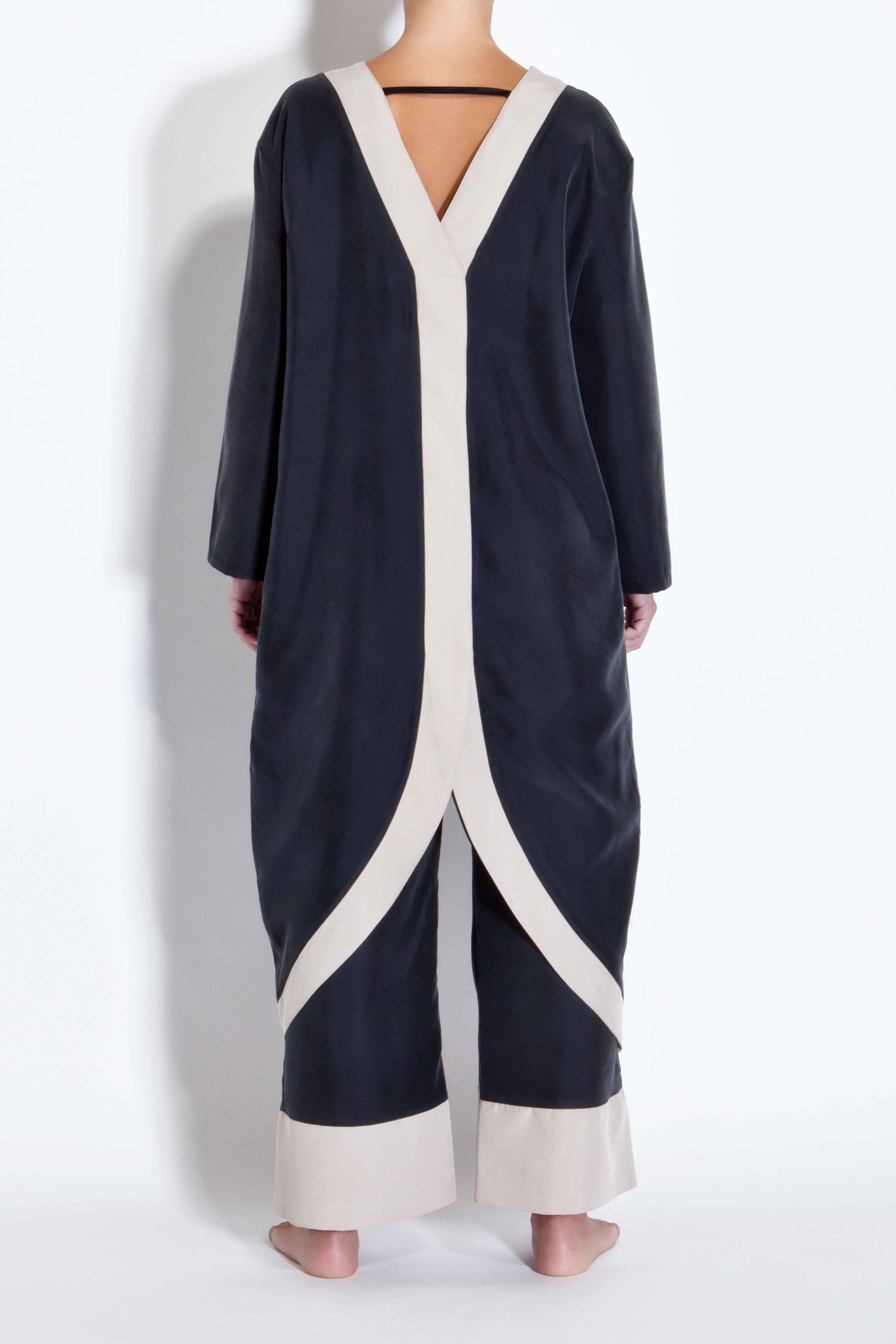 Half-moon kimono - Black