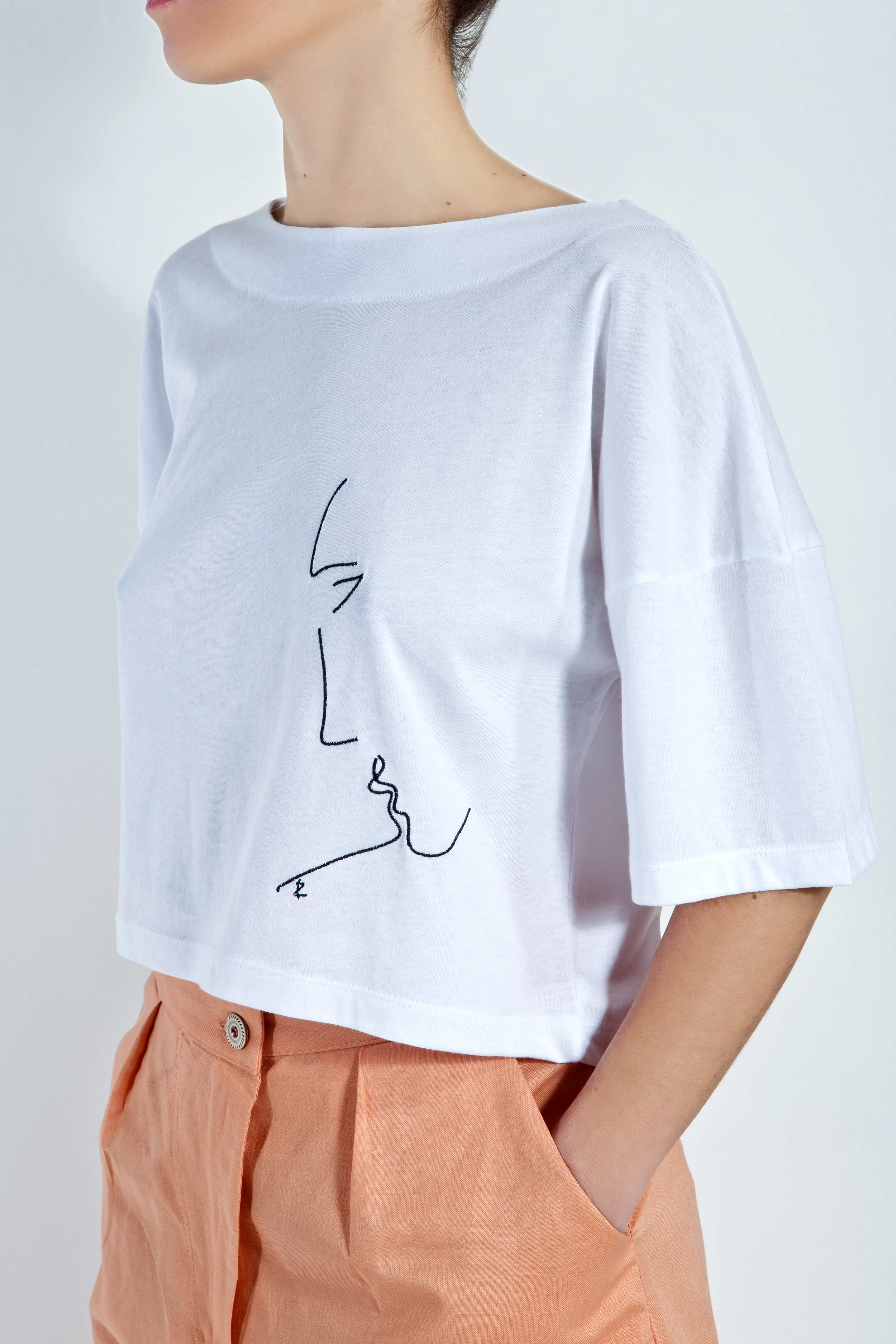 T-Shirt Phaino - White - Minimal Kiss