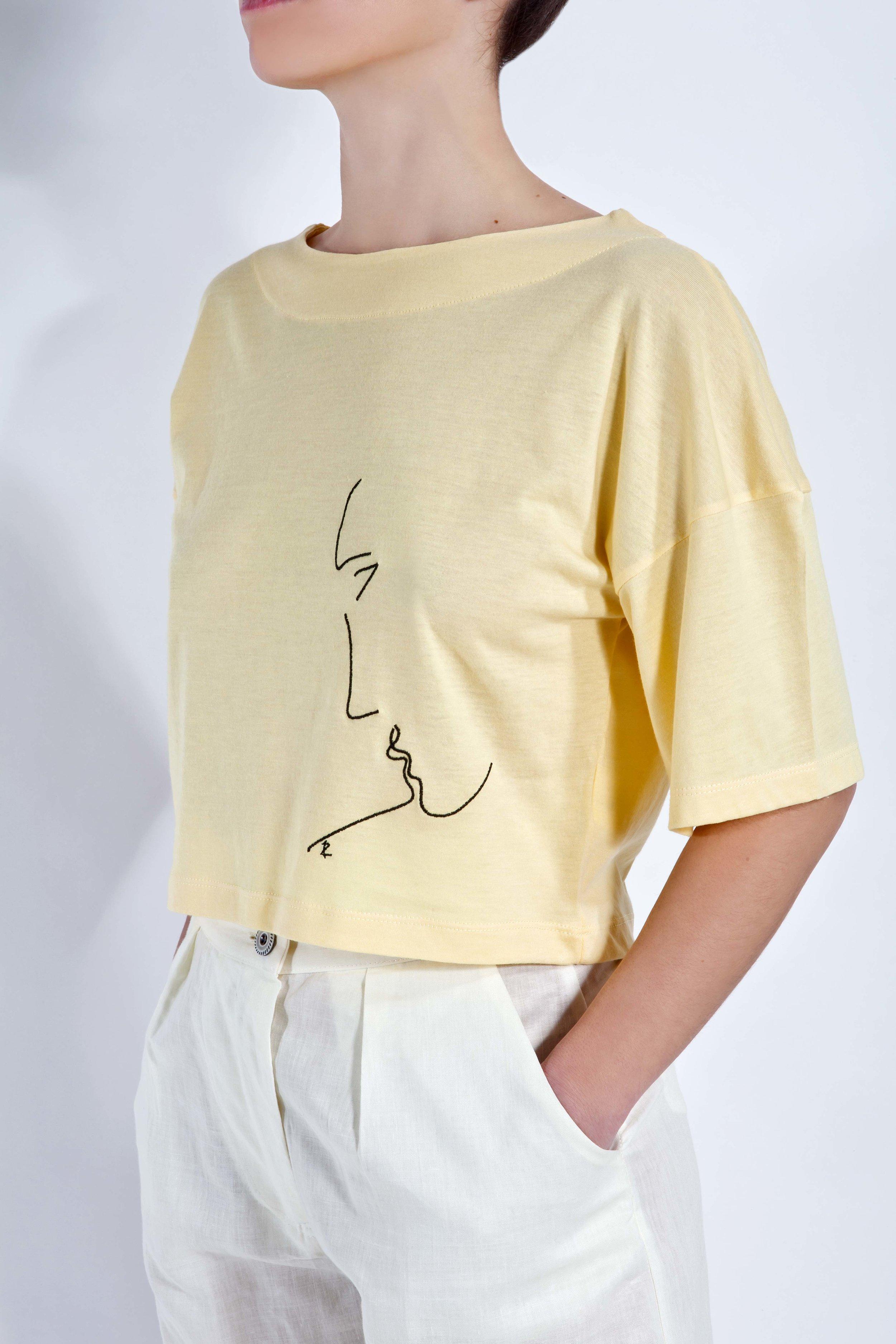 T-Shirt Phaino - Yellow - Minimal Kiss
