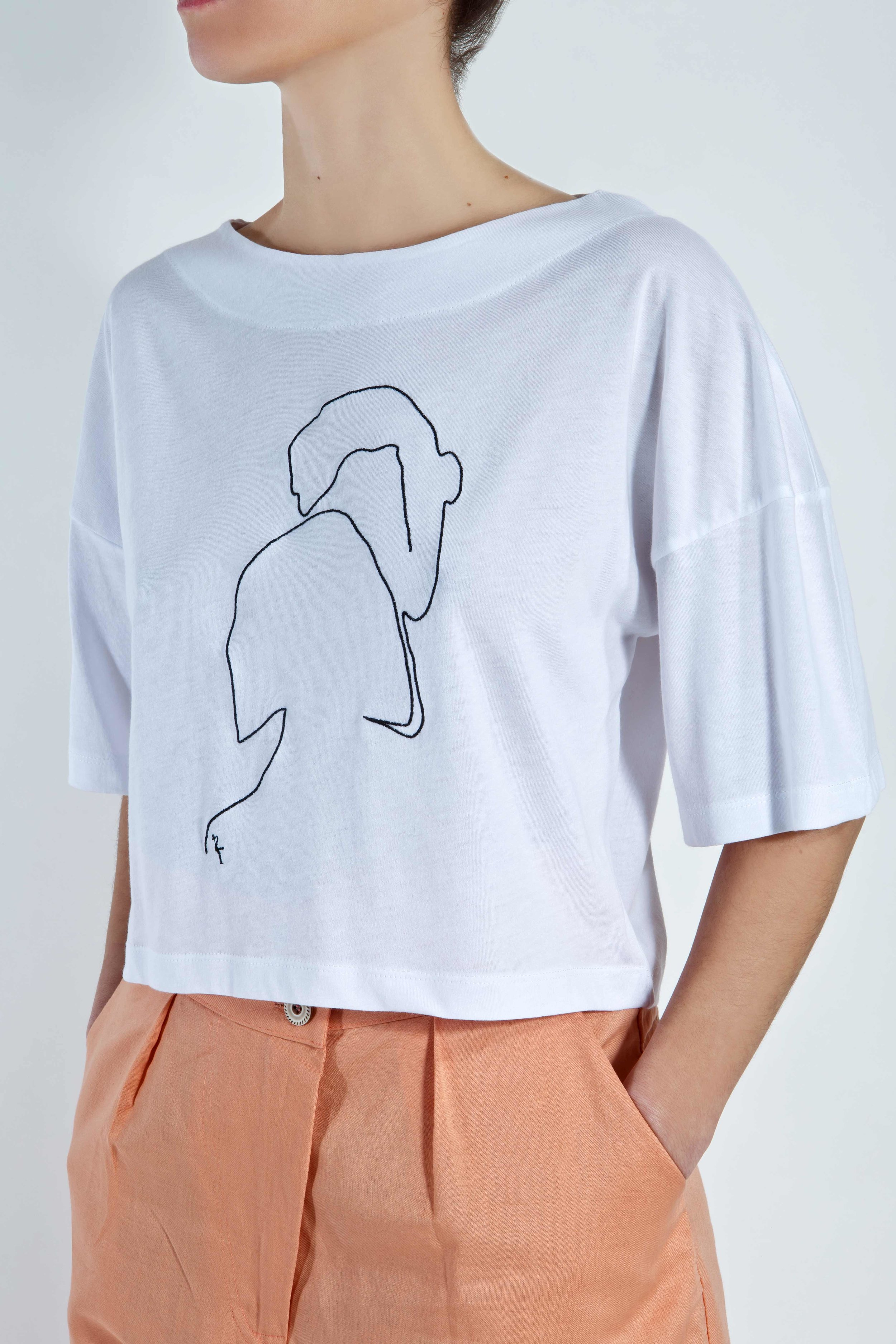 T-Shirt Phaino - White - Couple