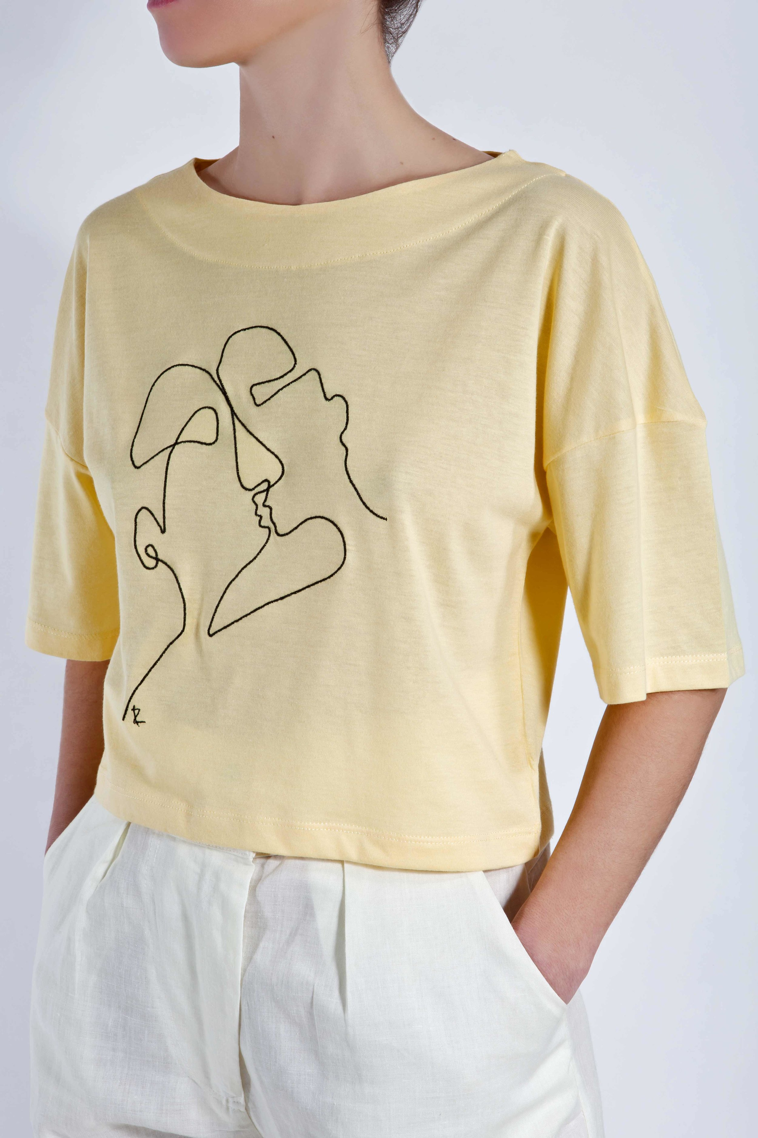 T-Shirt Phaino - Yellow - Cycladic