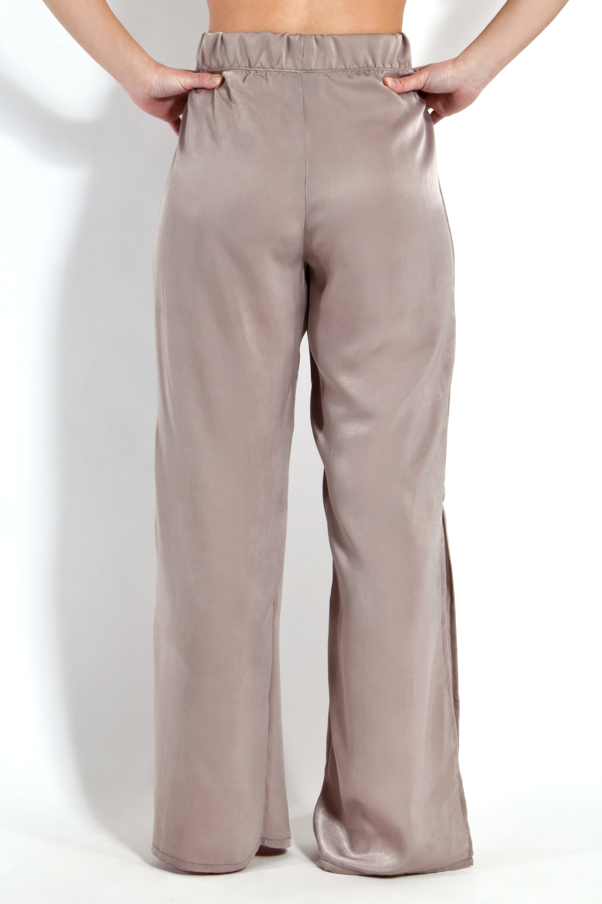 Sand Satin Trousers