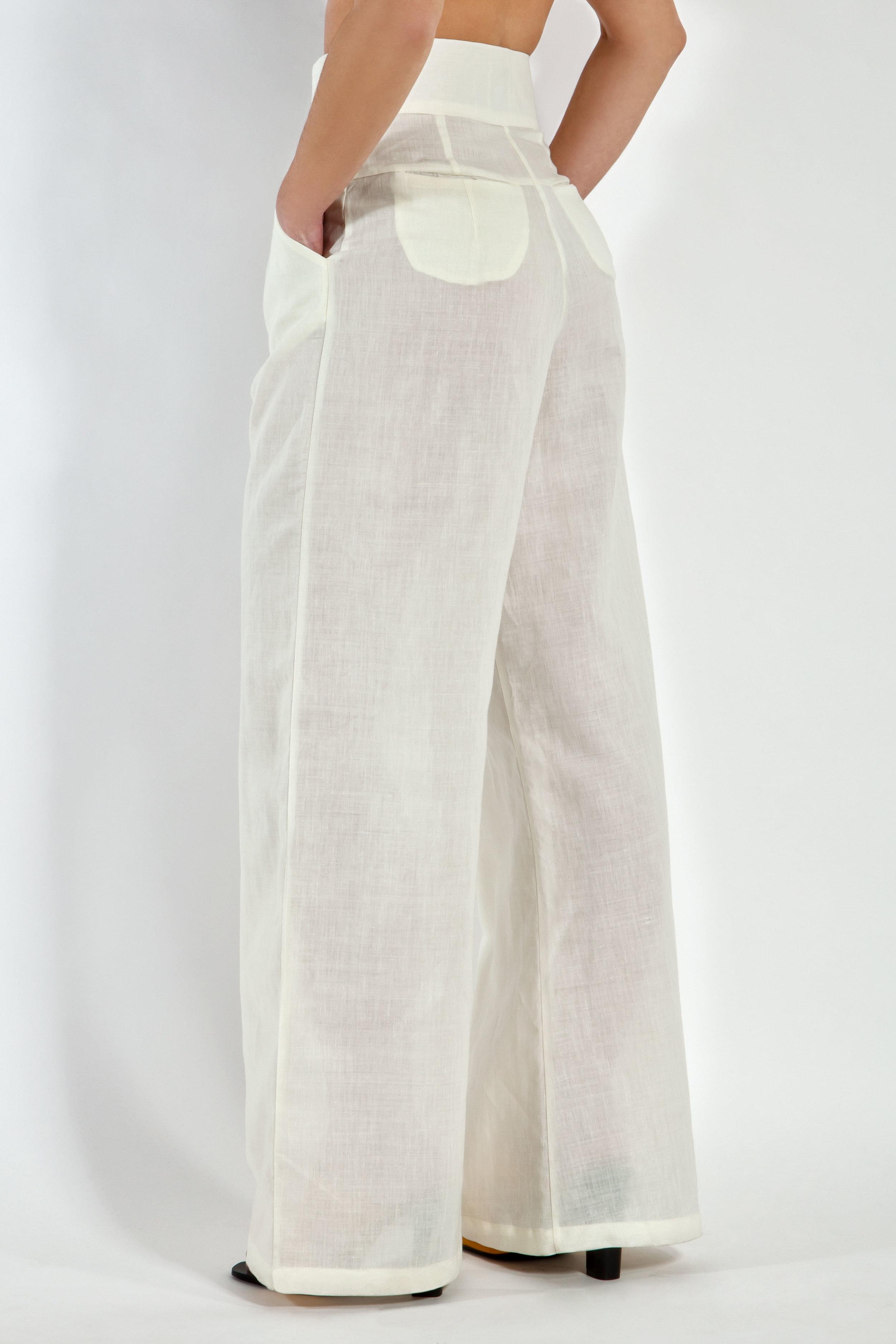 White Linen Trousers
