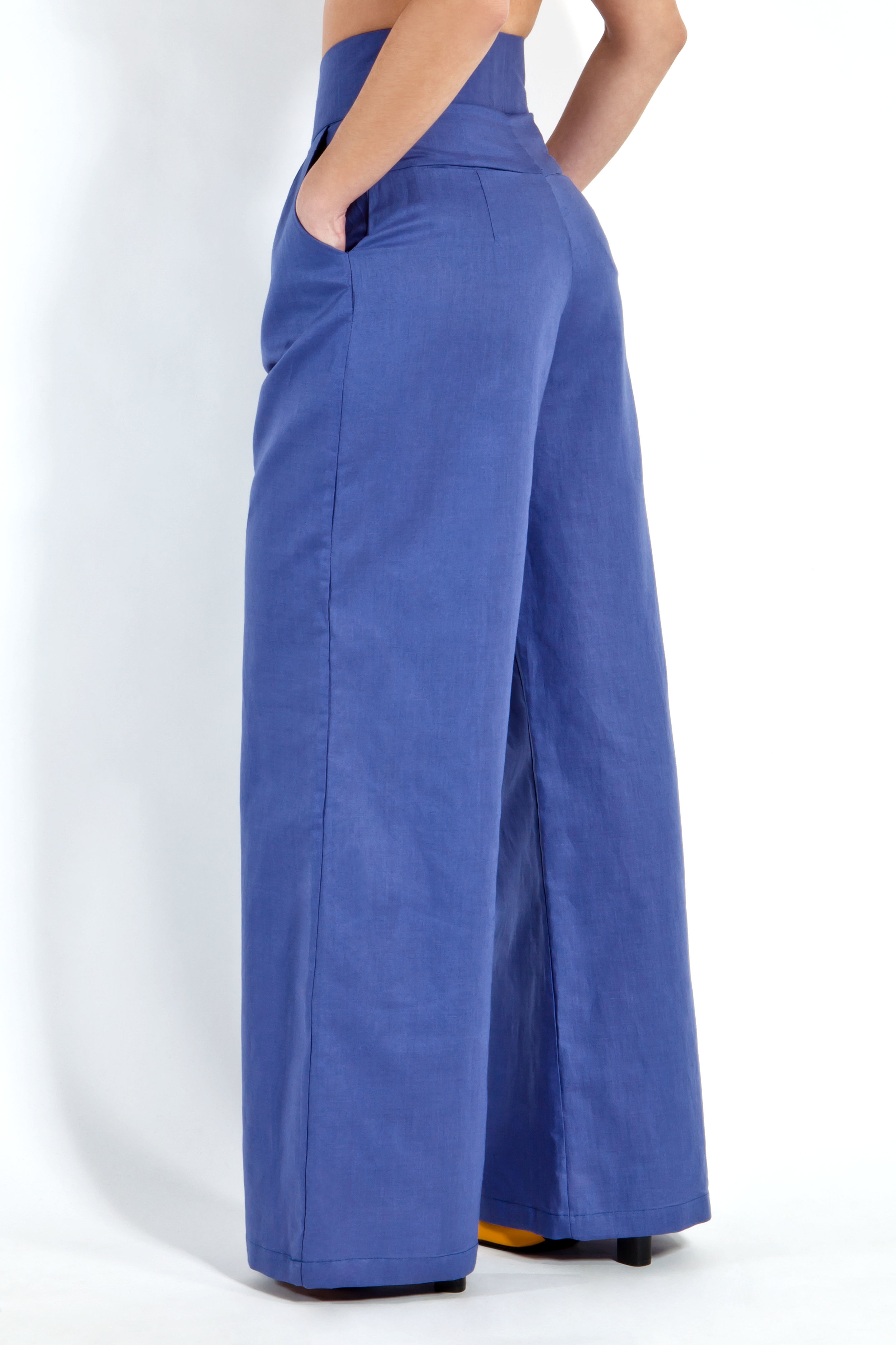 Indigo Linen Trousers