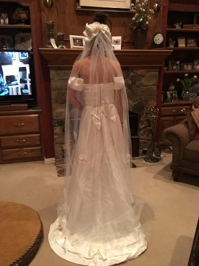 Even tried my moms wedding dress as an option. Love <3