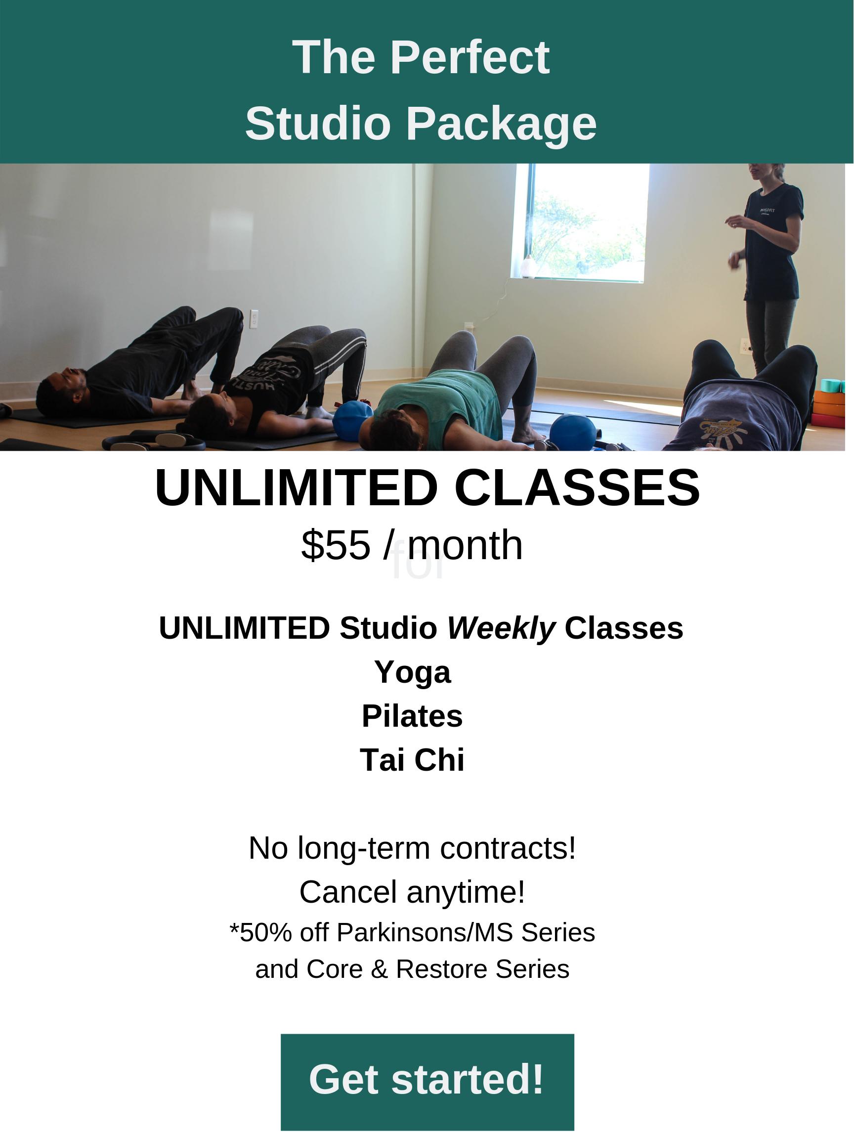 Yoga, Pilates and Tai Chi Classes in Wake Forest, North Carolina