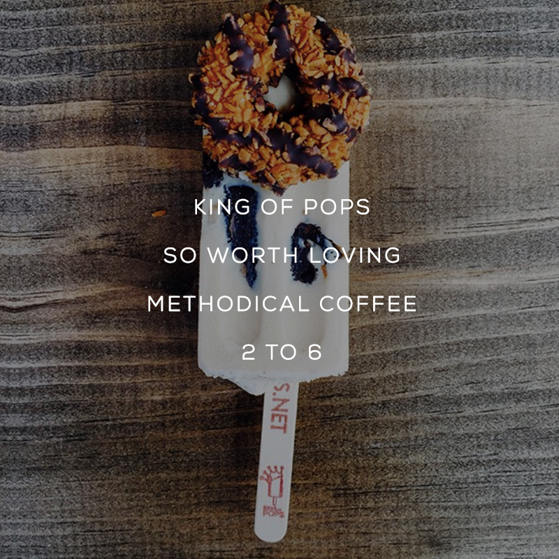 HEY HEY!! We are so stoked for this Saturday! We will be hanging out at Methodical Coffeewith King Of Pops Greenville- so GREENVILLE peeps we want to see you! // Saturday, April 25th from 2-6!