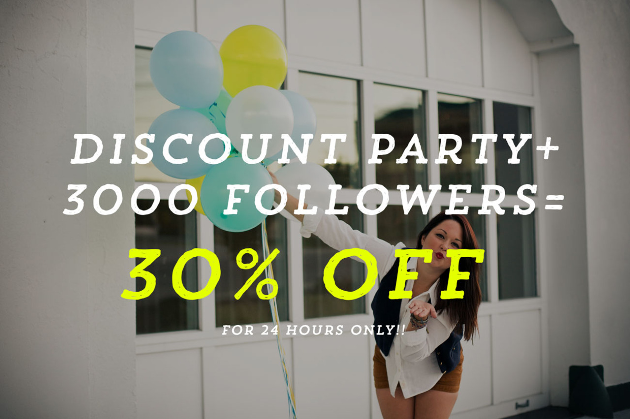 SALE SALE SALE :: 24 hours only!!!!!!!!  3,000 followers on facebook = 30% off!!  DISCOUNT CODE: SWLFAMILY