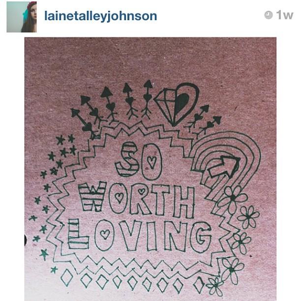 iamworthlove :     We absolutely love this doodle by @lainetalleyjohnson!! #swlfamily #doodle #swl #soworthloving #atlanta #smallbusiness #growinglove #bighearts #love #selflove #soworthdoodling #spreadthemessage #encourage