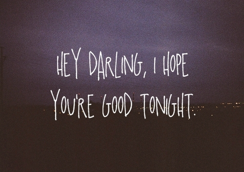 hey darling