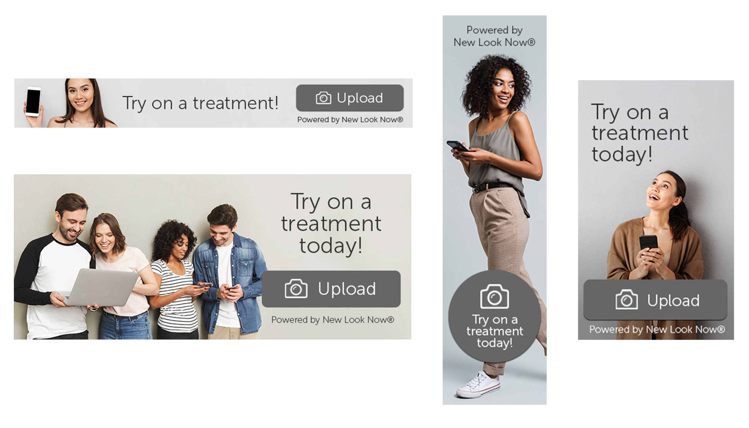 Neutral Web Banner Pack - Download your New Look Now® web banners, for use with any treatment! Upload any of the enclosed sizes as a banner on your website with a click through to your custom consumer link.