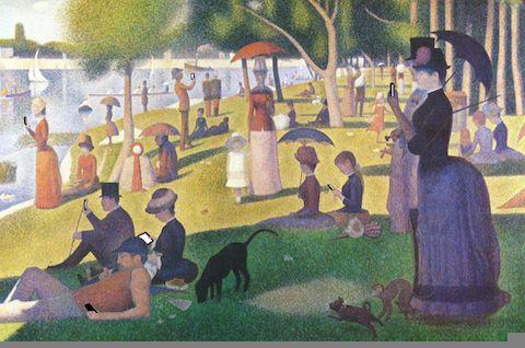 #impressionism #monetsux #paris #pointilism #sundayafternoon #brunch—Artist: Kim Dong-Kyu
