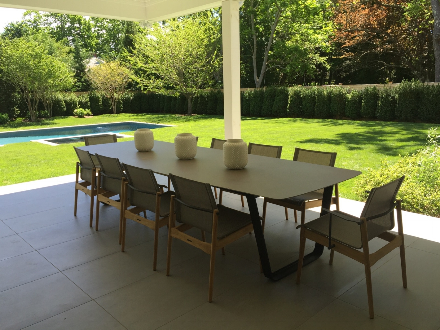 Manutti Air Table + Gloster Sway Chairs