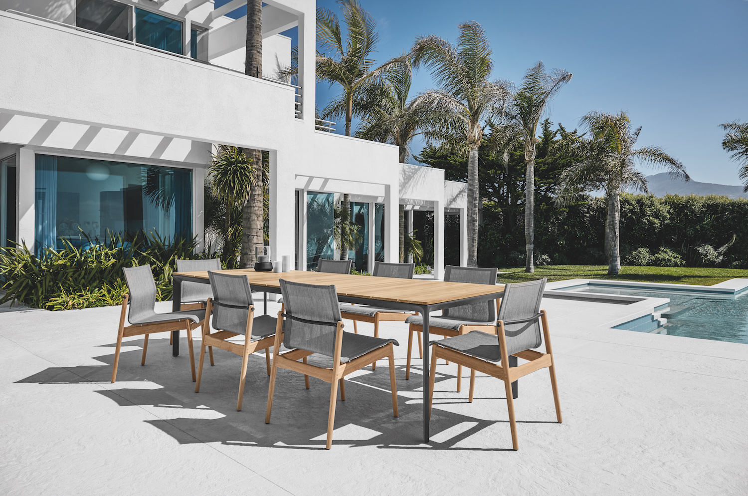 Gloster Carver Table + Gloster Sway Chairs