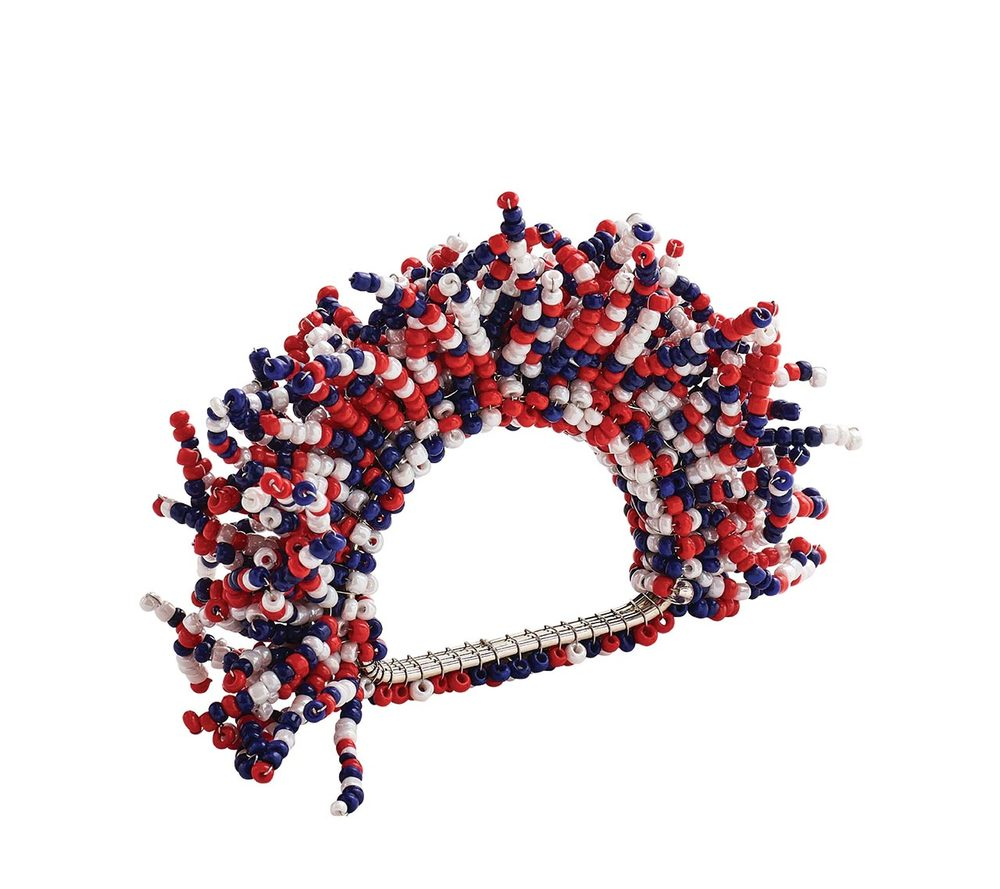 Kim Seybert Carnival Napkin Ring, Red/White/Blue