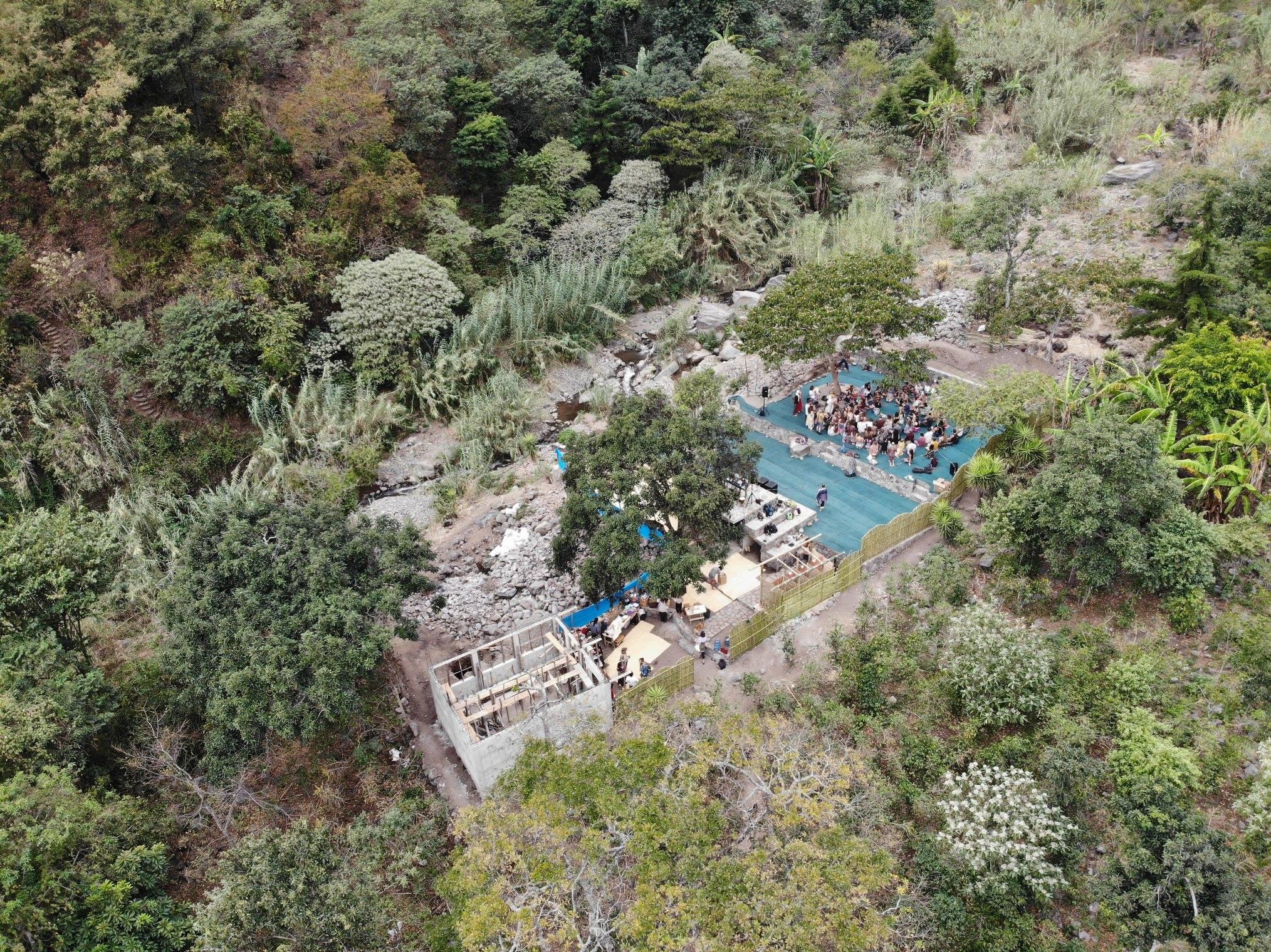 Aerial view of Daya Dance Temple