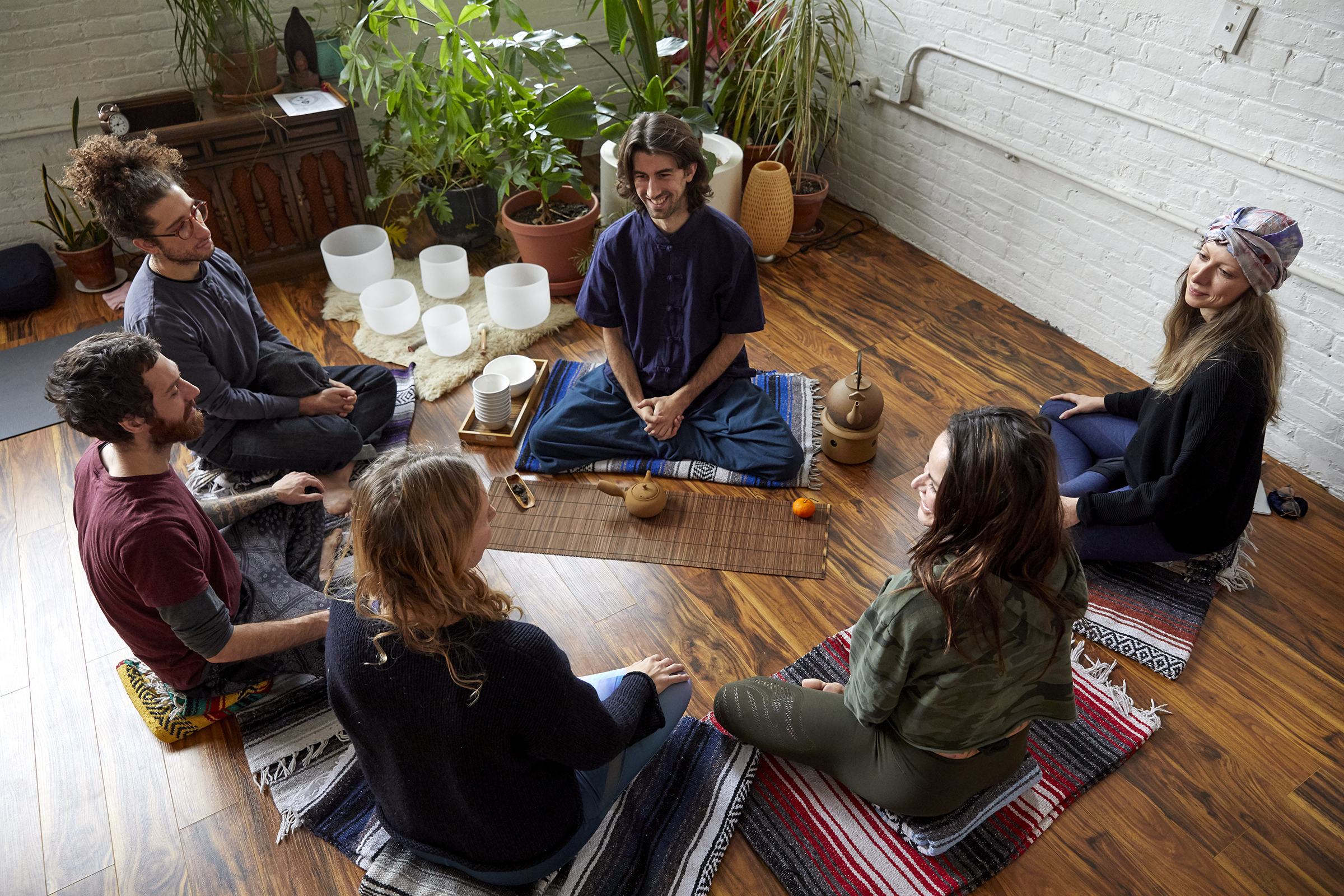 Patrick Manian leading Tea Ceremony & Meditation / Photo by: Kourosh Sotoodeh