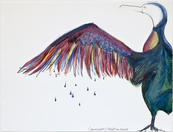 "Cormorant I, 15"" x 17"""