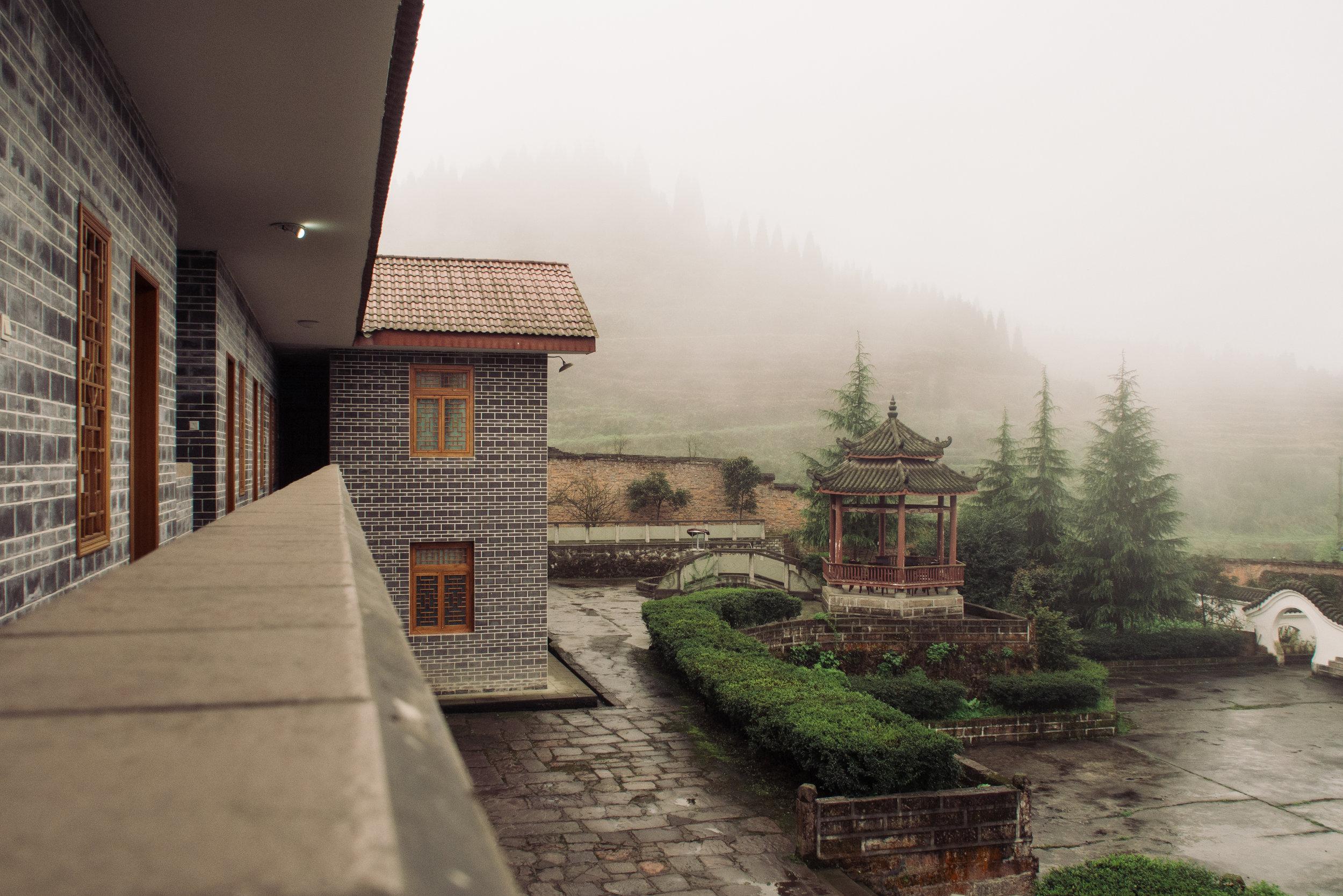 The Sichuan plantation's guest house