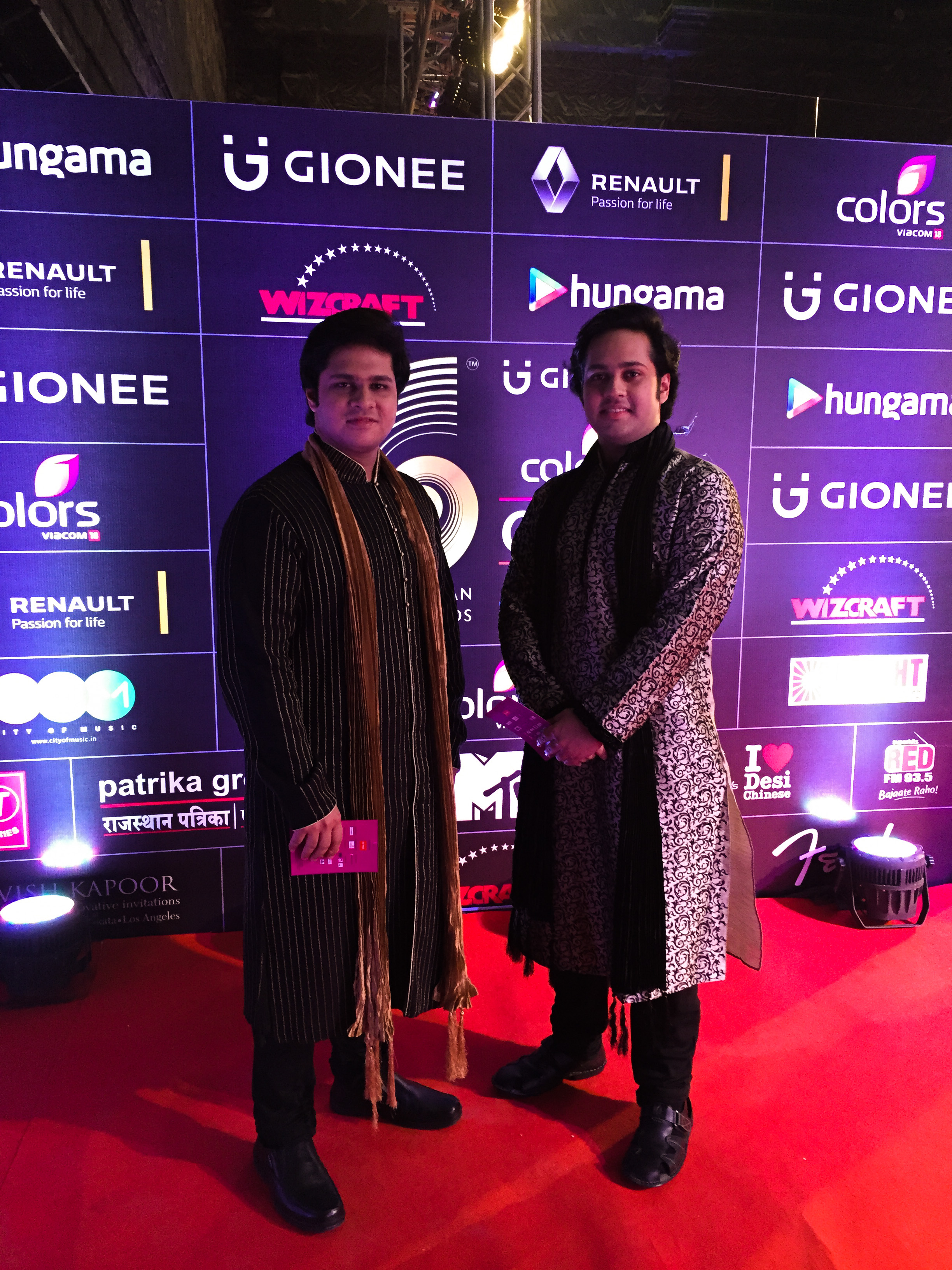 Lakshay & Aayush nominated for GiMA Awards!  Photo : At the Red Carpet of GiMA in Mumbai