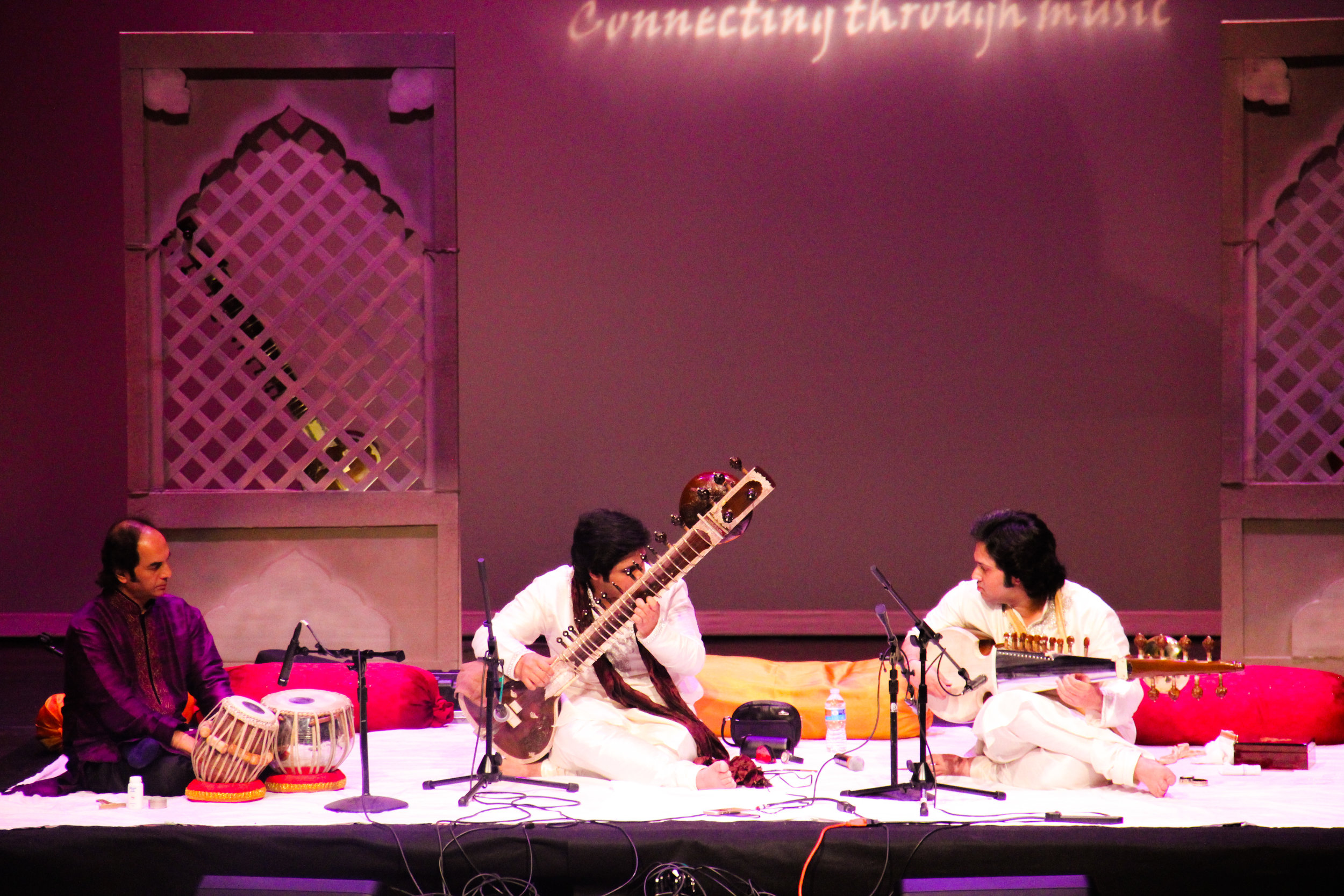 Lakshay &  Aayush during an intense musical dialogue at the LearnQuest Music Conference, Casey Theatre, Boston, United States