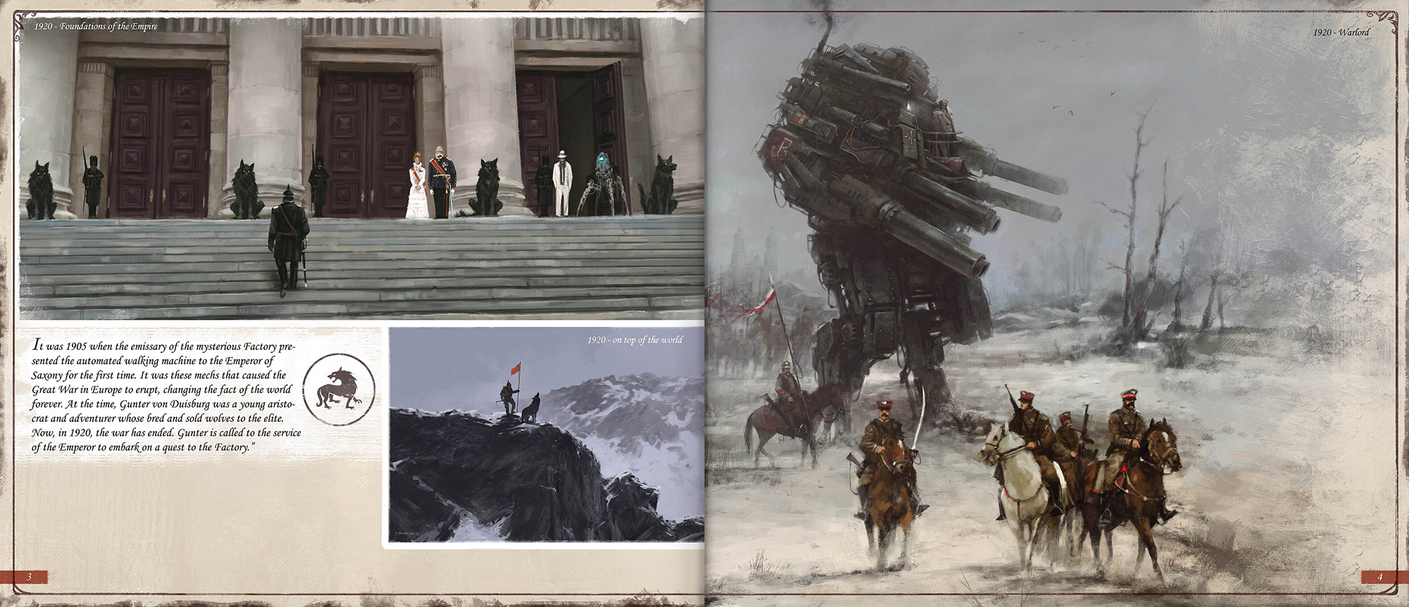 Sample pages from the Art Book. Courtesy of stonemaiergames.com.