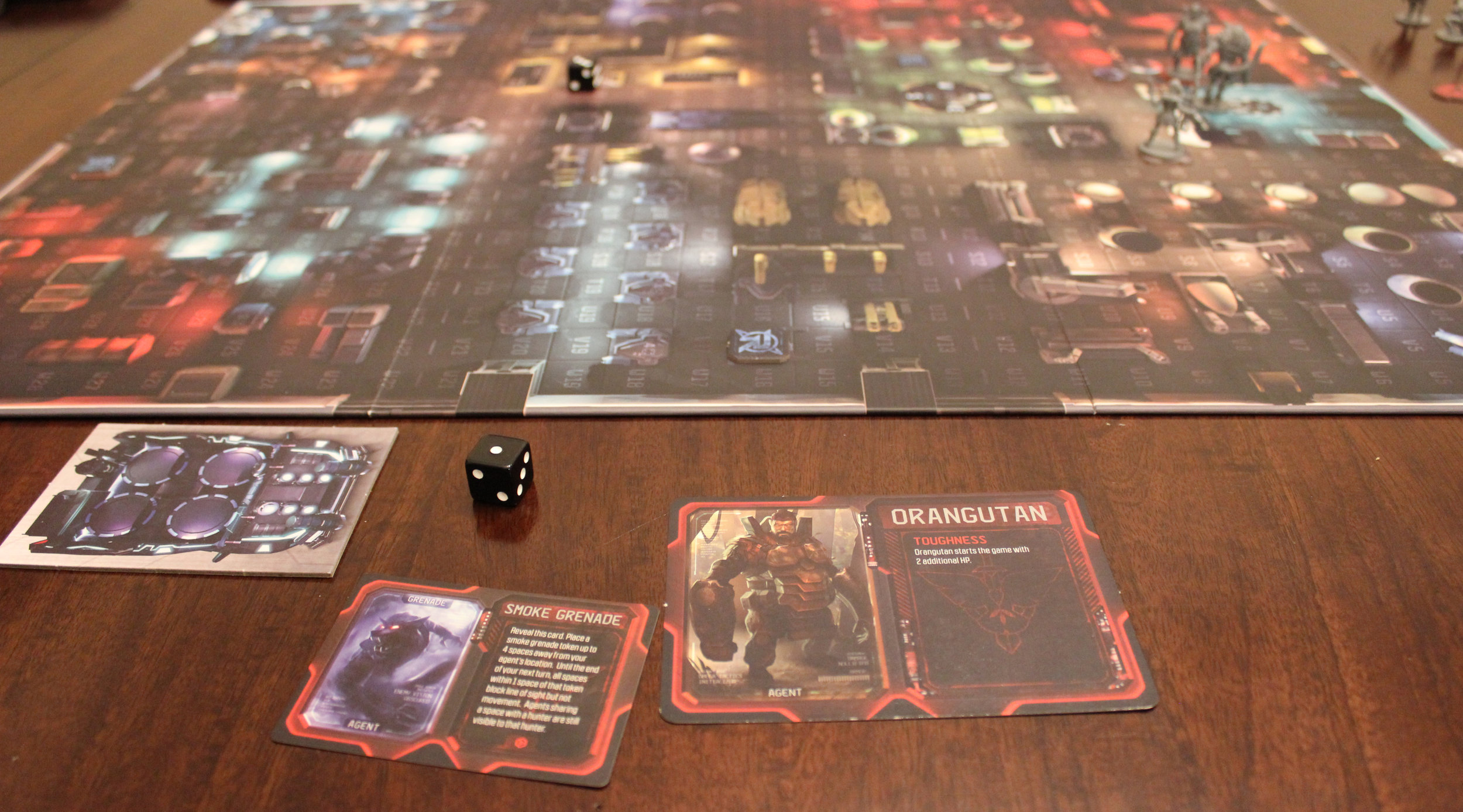 The agent's side of the board