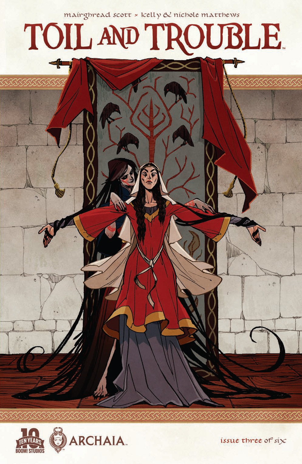 Cover to issue #3. The covers all have dynamic and striking artwork.