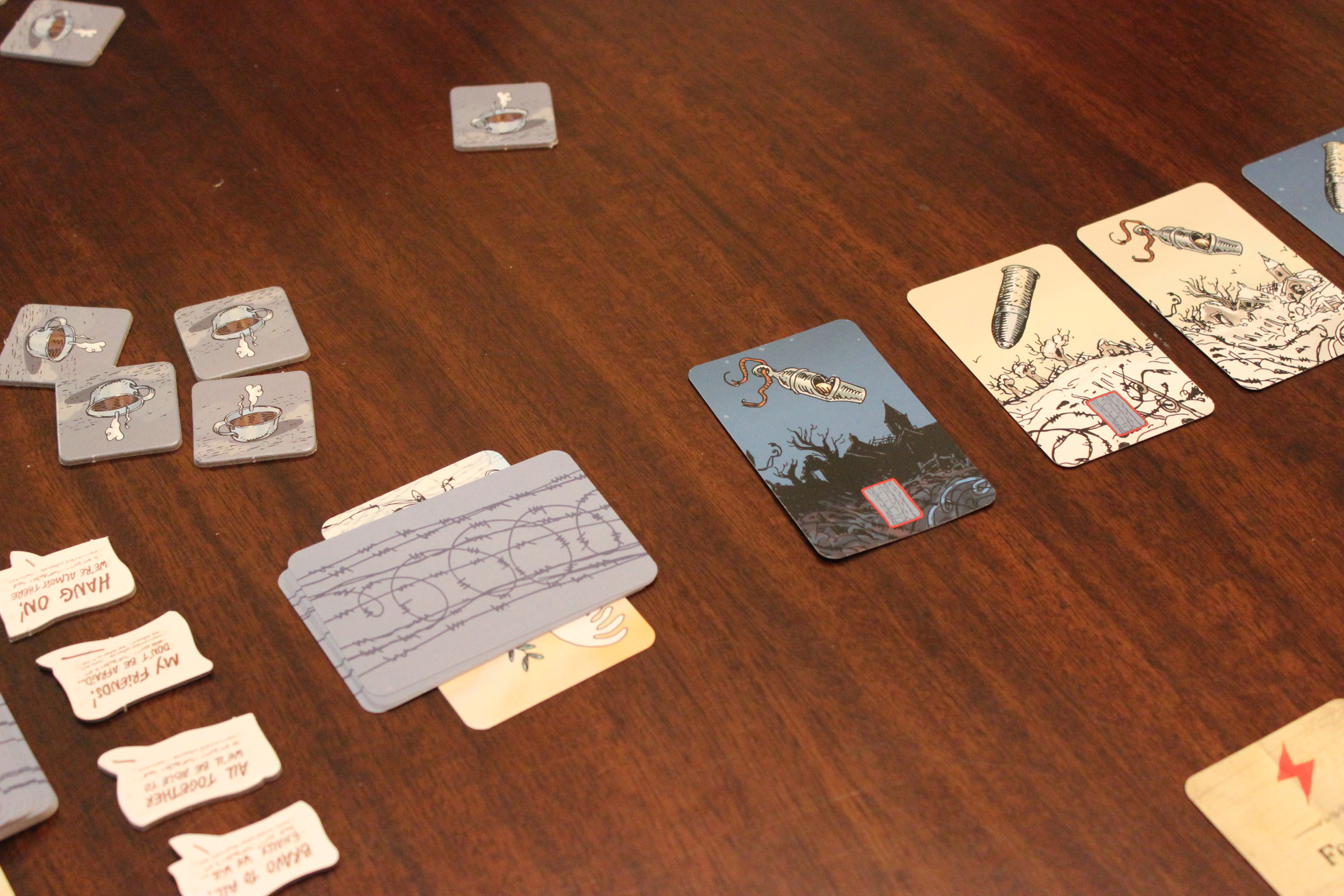 Midway through a four-player game.