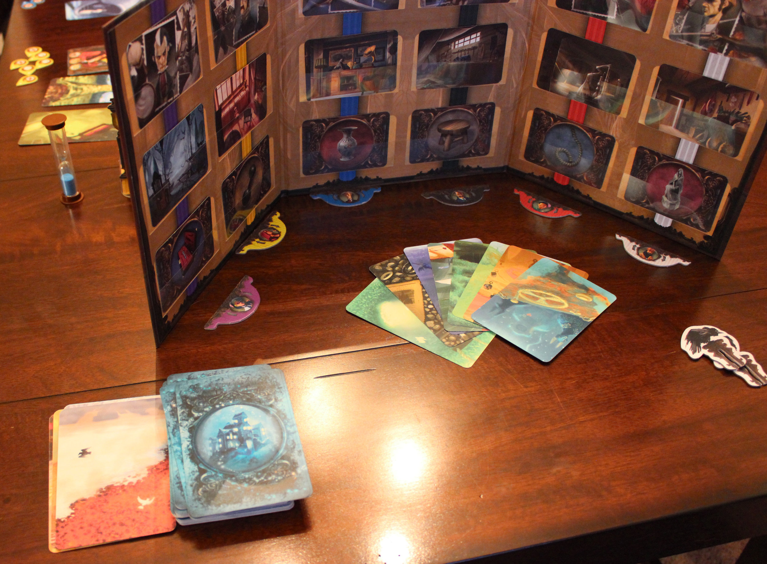 As the game continues, the ghost will run through cards in the deck.