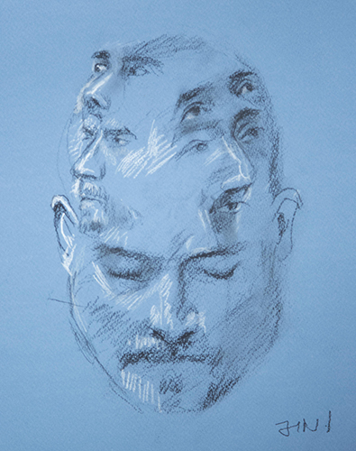 Jean-Antoine Norbert, State of Mind, Charcoal and white chalk on paper, 13%22x10%22, $500 copy 2.jpg