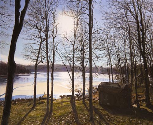 "Landscape in Pennsylvania, 8""x10"", oil on panel"