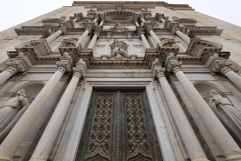 Facade of Girona Cathedral