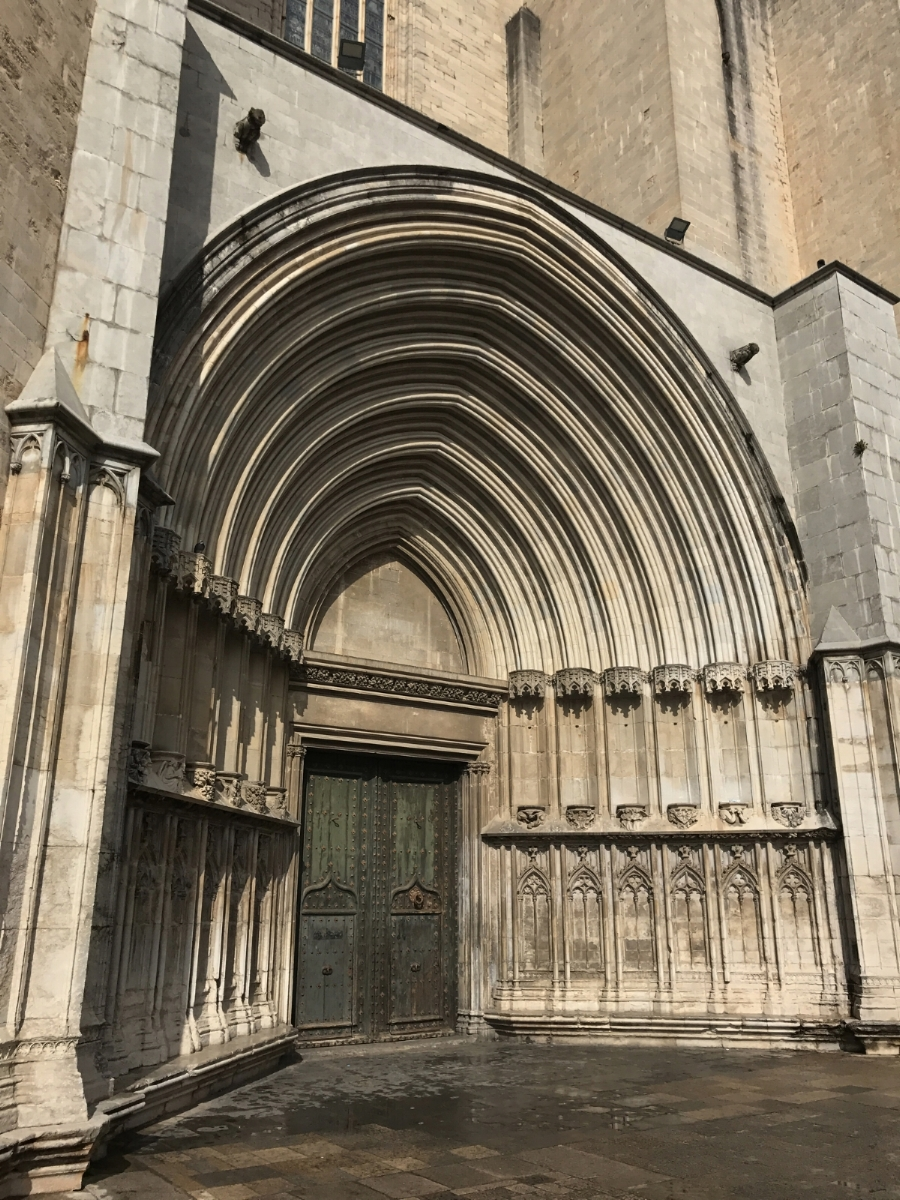 Side entrance of Girona Cathedral