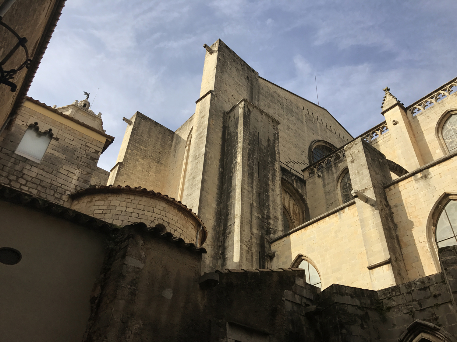 The back of Girona Cathedral