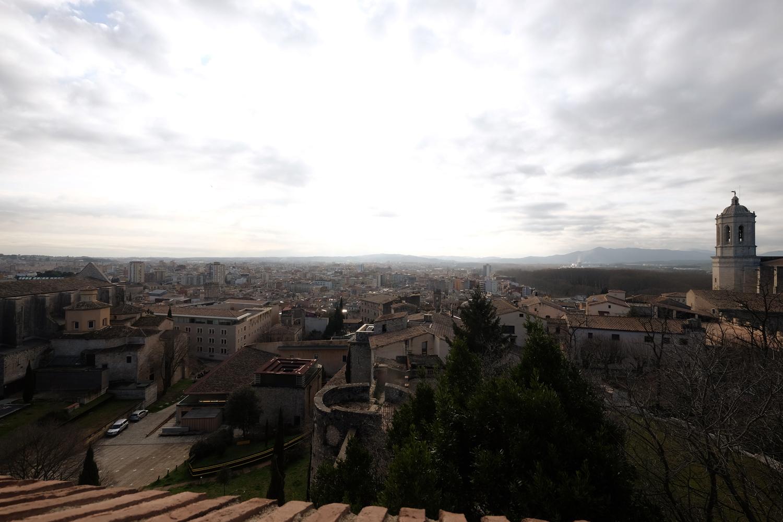 View of Girona from Passeig de la Muralla
