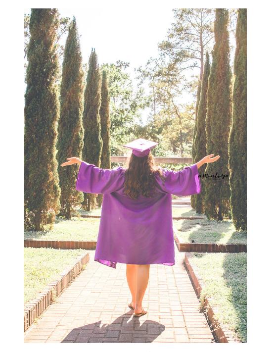 graduation portrait outdoors