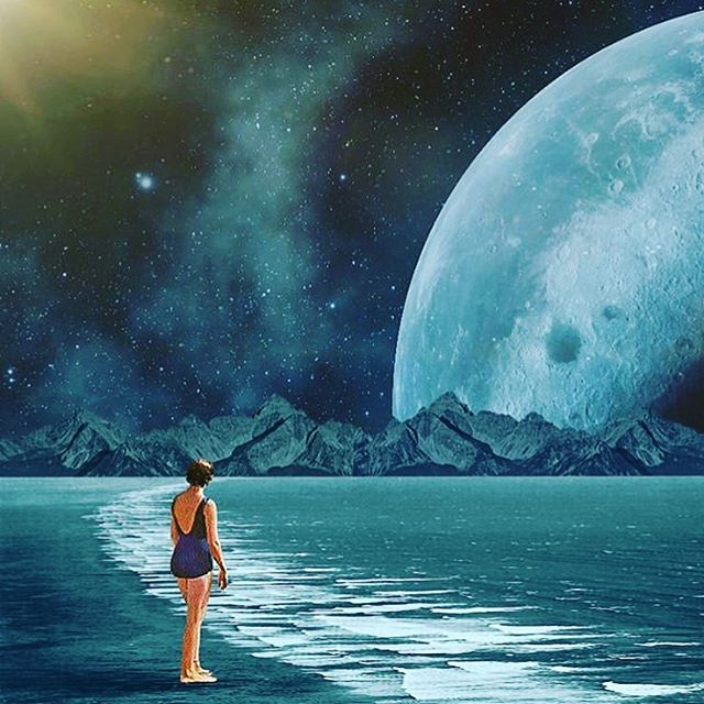 If you feel like your best intentions for moving through today in a practical, grounded, useful way are getting derailed or otherwise undermined-know this: the Moon in earthy sign Virgo is approaching an opposition to Neptune in its home sign of Pisces. It's a watery, drifty, best laid plans undone kind of day. But it's also an opportunity to dream, create and practice self compassion kind of day. Later this evening the Moon moves into a square to Jupiter which can bring  our bounce back, though we may need to remember to not overdo (food, drink, activities etc) Art by @trashriot