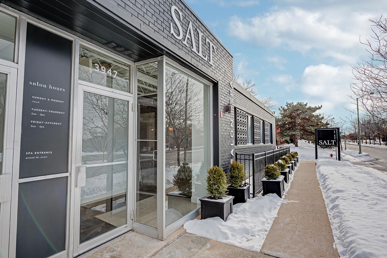 Exterior of Salt Salon Spa Cafe