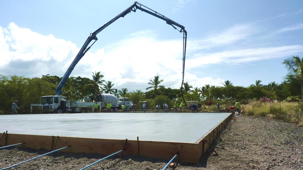 Bolton Inc. Concrete Pour Hawaii Kona