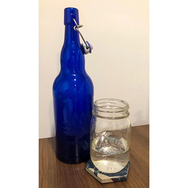 I love glass - pretty & plastic free! . . . #plasticfreejuly #yeg #yegblog #blogger #blog #slowliving #naturalliving #allnatural #masonjar #plasticfree #livingsimply #simpleliving #wastereduction #ecoblog #homestead #blueglass #zerowaste #zerowasteliving #inspiration #dogood #yeggreen #bloglife #gracefulnomad #homemade #sustainability #glass #slowcooking #sustainablehome #sustainableliving