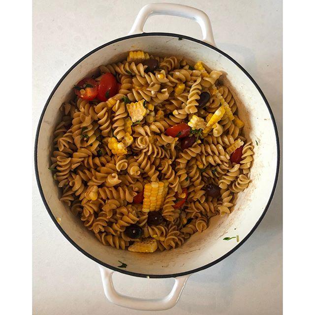 More pasta salad because it's the perfect summer supper. . . . #yeg #yegblog #blogger #blog #slowliving #naturalliving #allnatural #dutchoven #livingsimply #simpleliving #wastereduction #ecoblog #homestead #cooking #zerowaste #zerowasteliving #inspiration #dogood #yeggreen #pastasalad #gracefulnomad #homemade #sustainability #pasta #slowcooking #sustainablehome #sustainableliving