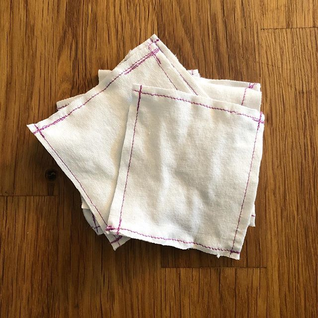 Time for a habit shift. Reusable face pads made from an old t-shirt to replace disposables. Upcycling + eliminating waste! #sundaywin