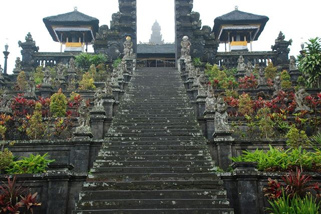 On our journey around Bali, our driver took us to Pura Besakih.  I'm not sure why I hadn't heard about Bali's largest and holiest of all Hindu temples, but it was all a surprise to me.  Located on the slopes of the large volcano Gunung Agung, it is comprised of 23 separate but related temples.  Touring around in the fog added a mysteriousness to the whole experience.  An essential sight to visit to learn about Balinese religion and culture. www.livingfreerange.co