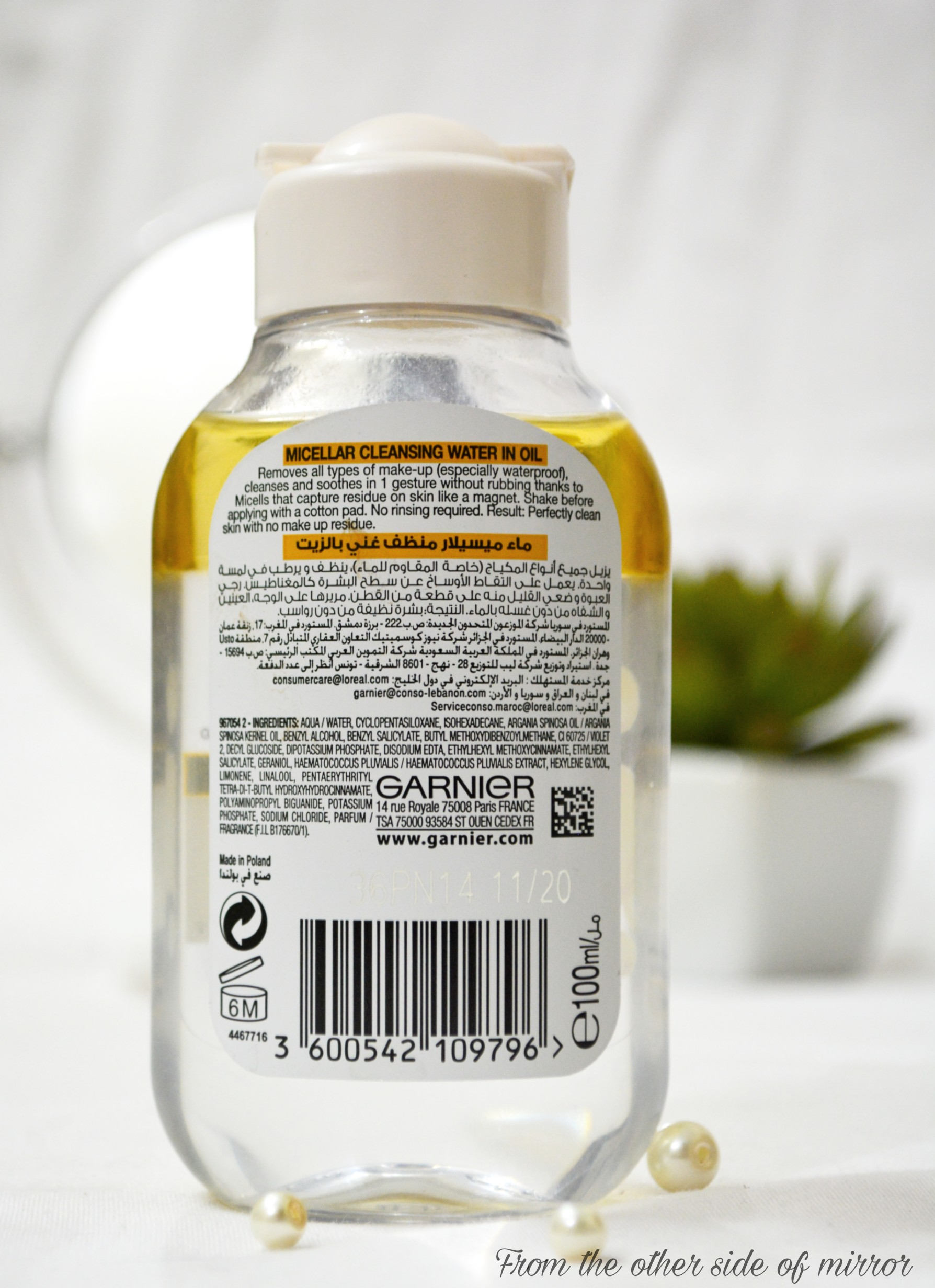 The Garnier Micellar Oil Infused Cleansing Water