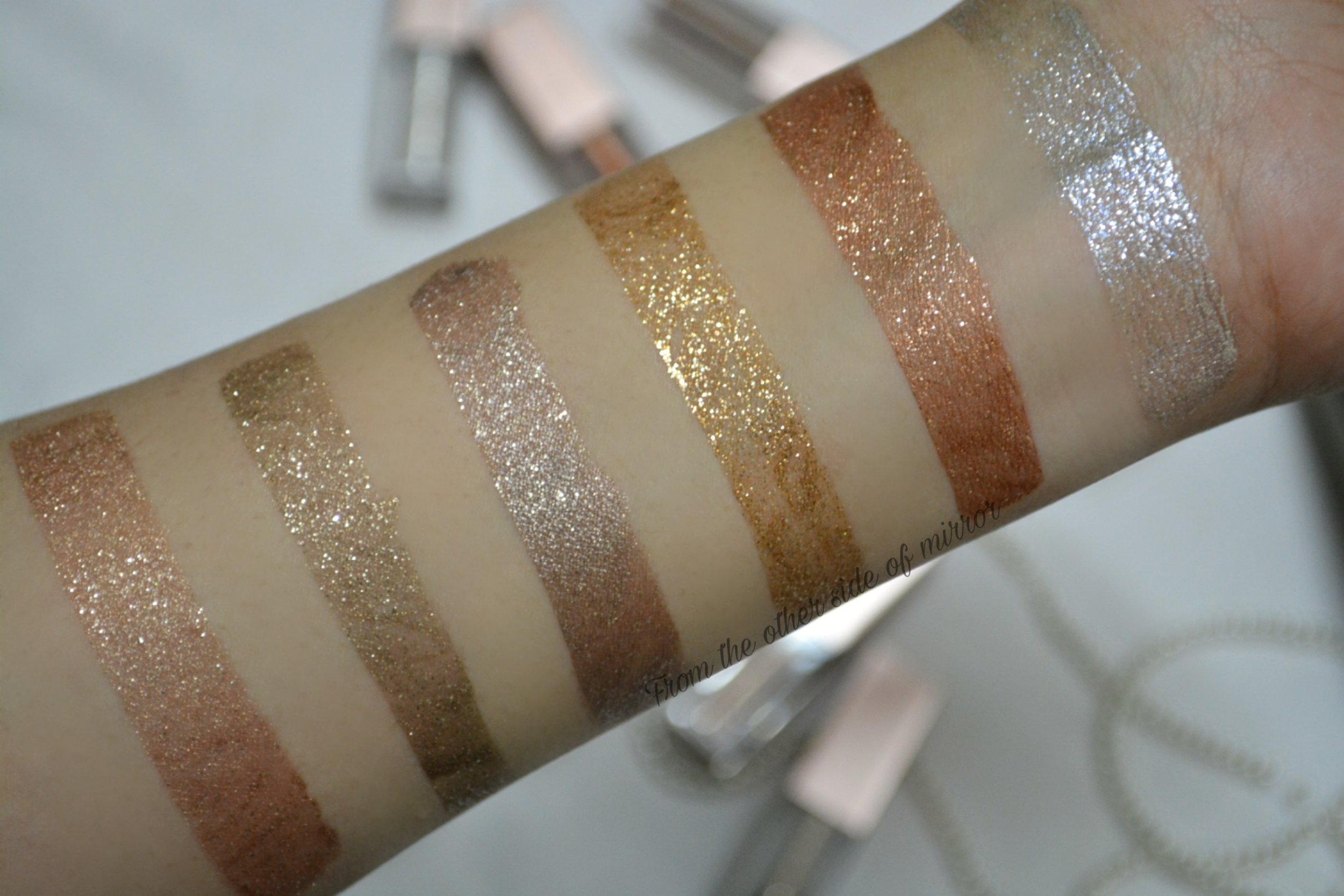 Heng Fang Shimmer Metal Glitter Eyeshadow - Swatches