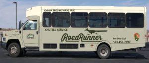 JTNP RoadRunner Shuttle Bus - shared by Rent29.com