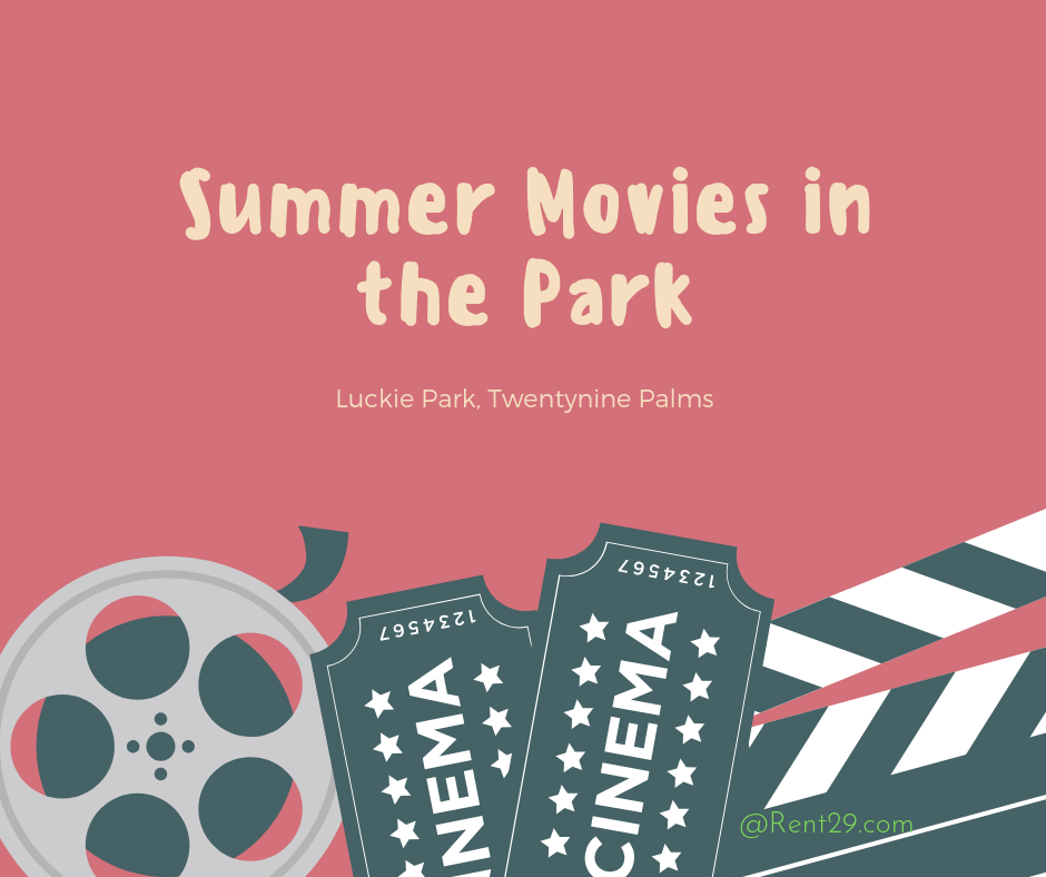 summer movies in Luckie Park 2019 - Rent29.com