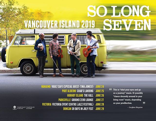 Here we come Vancouver Island! #acousticmusic #worldjazz #SL7 #victoriajazzfest #pleaseshare