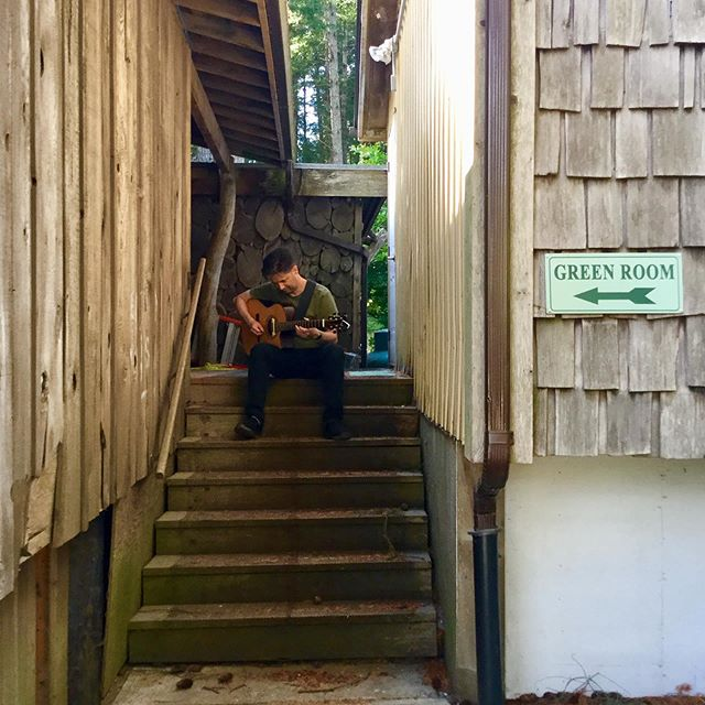 backstage on Hornby Island. Tonight at Ground Zero in Parksville #solongseven #vancouverisland